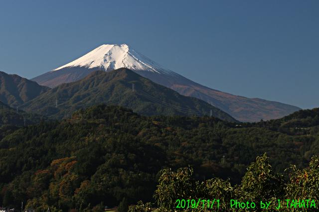 2019年11月1日の富士山写真