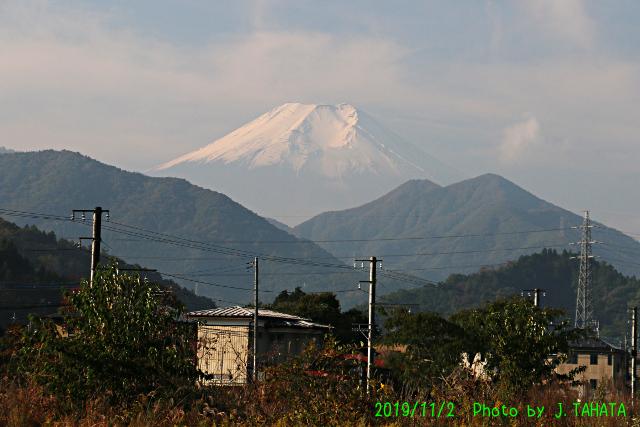 2019年11月2日の富士山写真