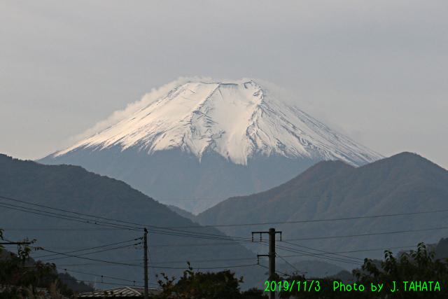 2019年11月3日の富士山写真