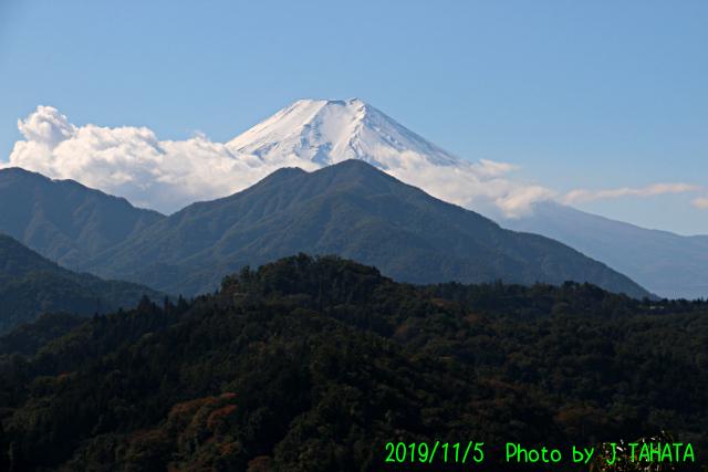 2019年11月5日の富士山写真