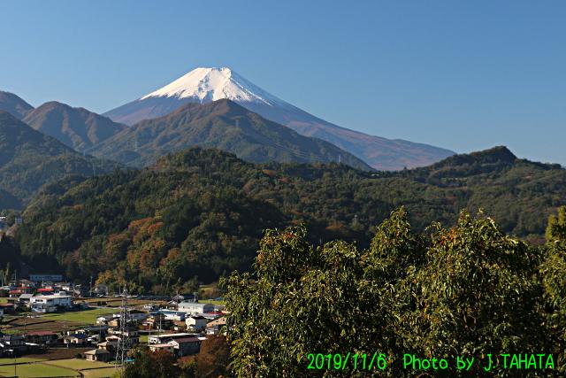 2019年11月6日の富士山写真