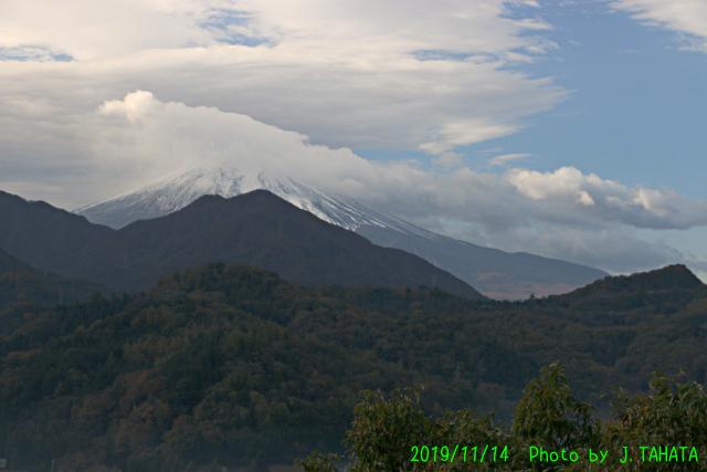2019年11月14日の富士山