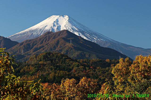 2019年11月16日の富士山