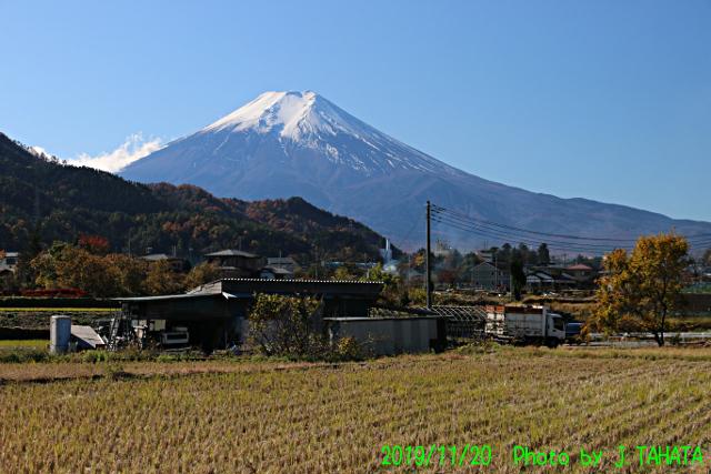 2019年11月20日の富士山