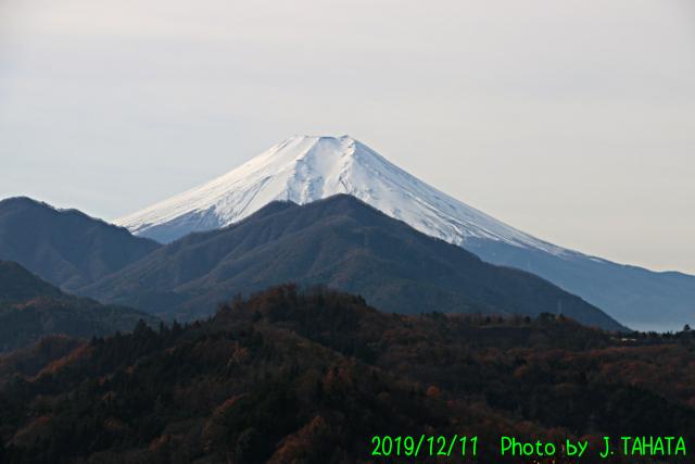 2019年12月11日の富士山
