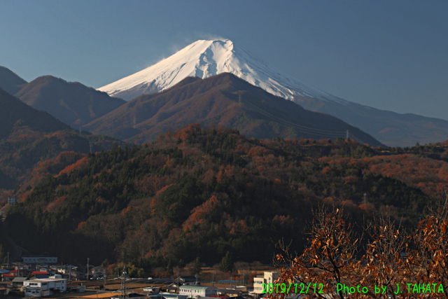 2019年12月12日の富士山